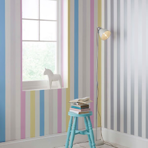 Superfresco Easy Kids' Pastel Stripe Wallpaper