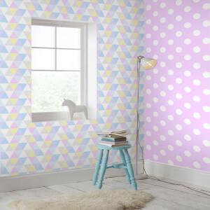 Superfresco Easy Kids' Dotty Spot Print Pink/White Wallpaper