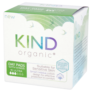 KIND Organic Day Pads with Wings 10