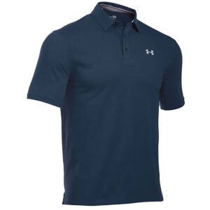 Under Armour Men's Charged Cotton Scramble Golf Polo Shirt - Academy