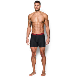 Under Armour 0-Series 2 Pack 6 Inch Boxerjock Briefs - Black