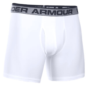 Under Armour Men's Original Series 6 Inch Boxerjock - White