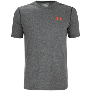 Under Armour Men's Threadborne Fitted T-Shirt - Black/Phoenix Fire