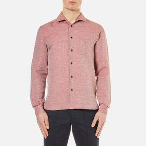 YMC Men's Curtis Pique Long Sleeve Shirt - Red