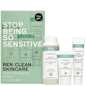 REN Stop Being So Sensitive Regime Kit 75ml (Worth $28)