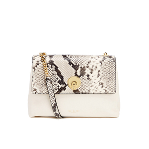 Ted Baker Women's Misti Circle Lock Exotic Trim Cross Body Bag - Ivory