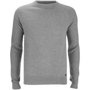 Pull Maille Turner Stripe Threadbare -Gris Clair Chiné