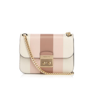 MICHAEL MICHAEL KORS Women's Multi Stripe Sloane Editor Medium Chain Shoulder Bag - Ecru/Fawn/Soft Pink