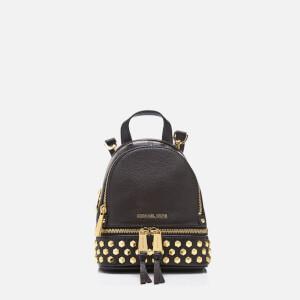 63a484e23b81 MICHAEL MICHAEL KORS Women s Rhea Zip Studded XS Messenger Backpack - Black  - Free UK Delivery over £50