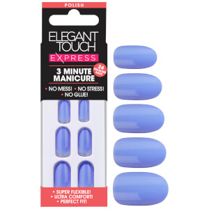 Elegant Touch Express Polish Nails - Cornflower Blue