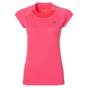 Asics Women's Cap Sleeve Run T-Shirt - Diva Pink Heather