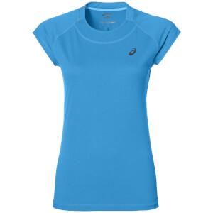 Asics Women's Cap Sleeve Run T-Shirt - Diva Blue Heather