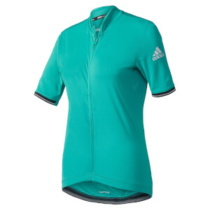 adidas Men's Climachill Short Sleeve Jersey - Green