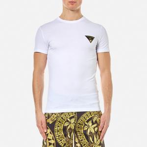 Versace Jeans Men's Small Logo Basic T-Shirt - Bianco