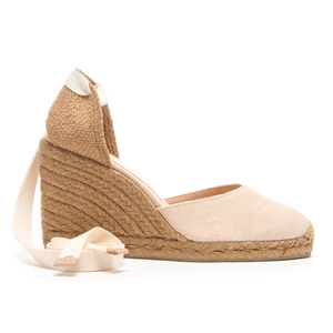Castaner Women's Carina Wedged Espadille Sandals - Nude