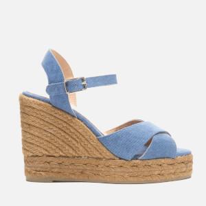 Castaner Women's Blaudell Wedged Espadrille Sandals - Jeans