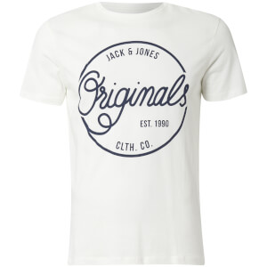 T-Shirt Homme Originals Swell Logo Jack & Jones - Blanc Cassé