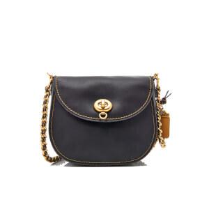 Coach Women's Glovetanned Turnlock Saddle Bag - Black