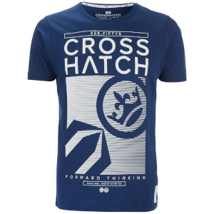 Crosshatch Men's Kilo Textured T-Shirt - Estate Blue