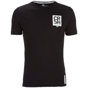 Crosshatch Men's Aileen Logo Front and Back Print T-Shirt - Black