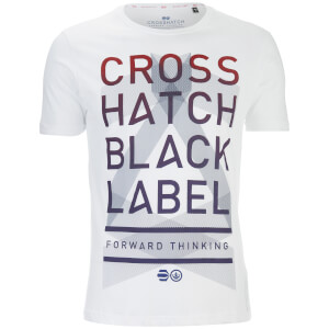 Crosshatch Men's Penn Black Label Print T-Shirt - Bright White