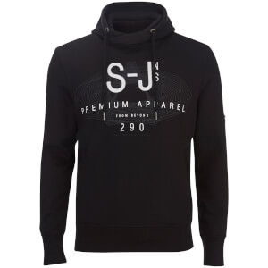 Smith & Jones Men's Altitude Cross Neck Hoody - Black