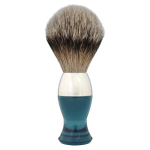 eShave Silvertip Badger Nickel Short - Blue