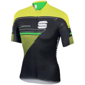 Sportful Gruppetto Pro LTD Short Sleeve Jersey - Black/Yellow/Green