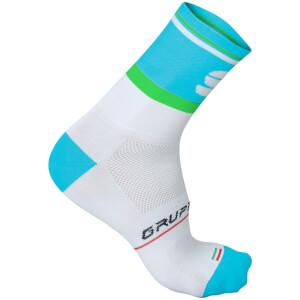 Sportful Gruppetto Pro 12 Socks - White/Blue/Green