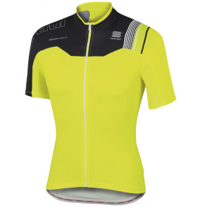 Sportful BodyFit Pro Team Short Sleeve Jersey - Yellow/Black