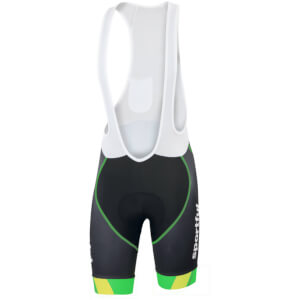 Sportful Gruppetto Pro Bib Shorts - Black/Green/Yellow