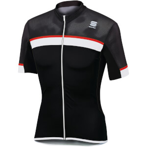 Sportful Pista Jersey - Black/White/Red