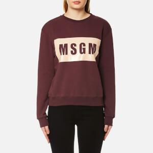 MSGM Women's Logo Sweatshirt - Burgundy