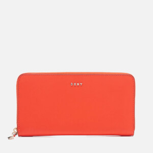 DKNY Women's Bryant Park Large Zip Around Purse - Orange