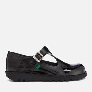 Kickers Women's Kick Lo Aztec Patent T-Bar Shoes - Black