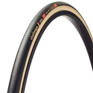 Challenge Pista Seta Silk Tubular チューブラー トラック競技用タイヤ- ブラック/タン - 700c x 22mm