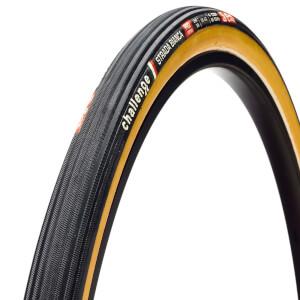 Challenge Strada Bianca 260 TPI チューブラー ロード タイヤ - ブラック/タン - 700c x 30mm