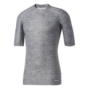 adidas Men's TechFit Climachill T-Shirt - Core Heather