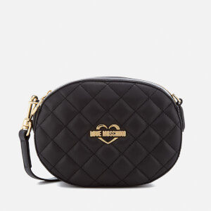 Love Moschino Women's Quilted Round Small Cross Body Bag - Black