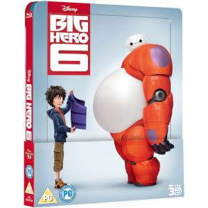 Big Hero 6 3D (Includes 2D Version) Zavvi Exclusive Lenticular Edition Steelbook