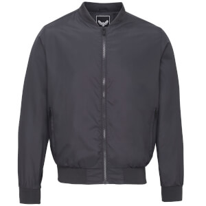 Brave Soul Men's Sanjay Bomber Jacket - Charcoal