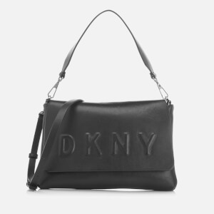 DKNY Women's Flap Shoulder Bag - Black