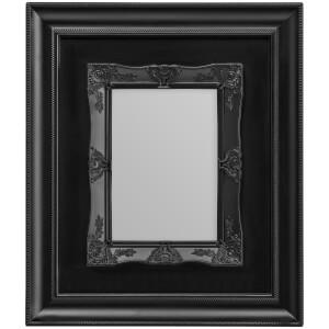 """Marco de Fotos """"Rococo"""" (12,7 cm x 17,8 cm) - Negro"""