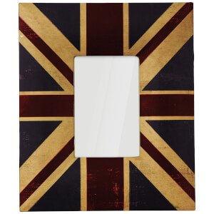 Union Jack Canvas Photo Frame 4 x 6