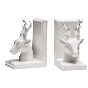 Deer Bookends (Set of 2) - White Dolomite