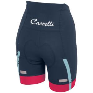 Castelli Women's Velocissima Shorts - Midnight Navy/Raspberry