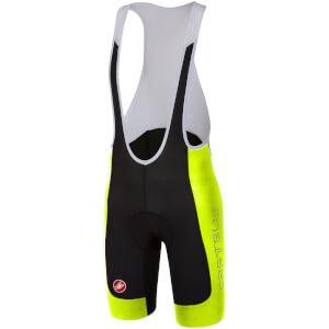 Castelli Evoluzione 2 Bib Shorts - Black/Yellow Fluo