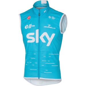 Team Sky Pro Light Wind Gilet - Sky Blue
