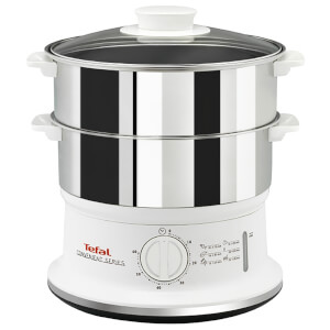 Tefal VC145140 Convenient Food Steamer - Stainless Steel/White