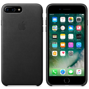 Apple iPhone 7 Plus Leather Case - Black